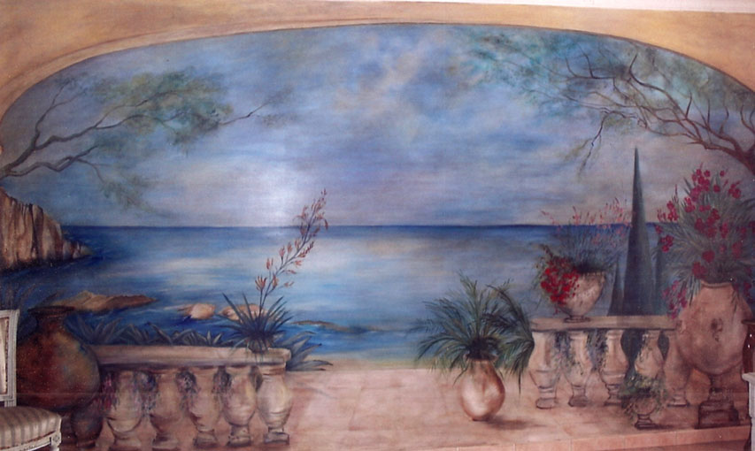 Peinture decorative de Beatrix Agius – Trompe l'oeil, decor mural